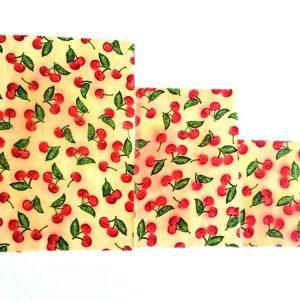 Méhviaszos csomagoló cseresznyés 3 db-os szett
