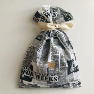 újságmintás kenyeres zsák